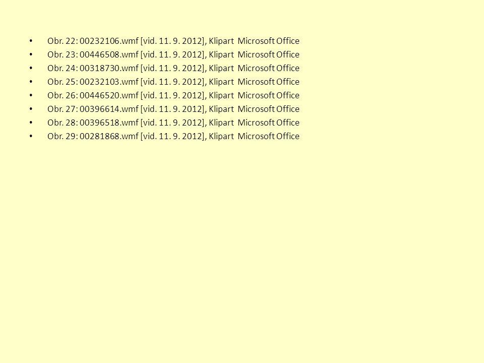Obr. 22: 00232106.wmf [vid. 11. 9. 2012], Klipart Microsoft Office